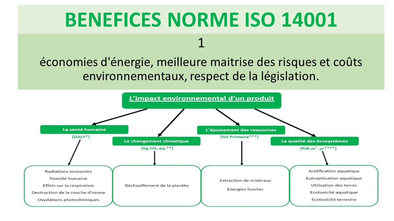 BENEFICES NORME ISO 14001 1.