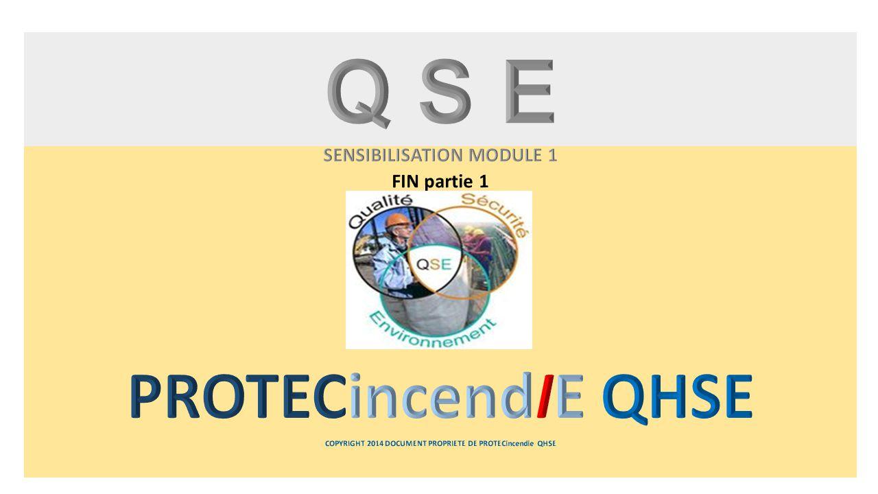 Q S E SENSIBILISATION MODULE 1 FIN partie 1 PROTECincendIE QHSE