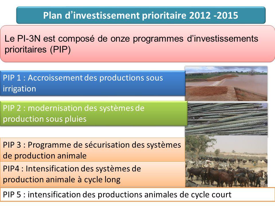 Plan d'investissement prioritaire 2012 -2015