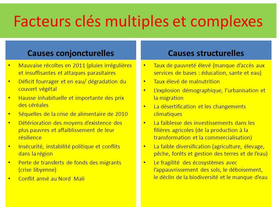 Facteurs clés multiples et complexes