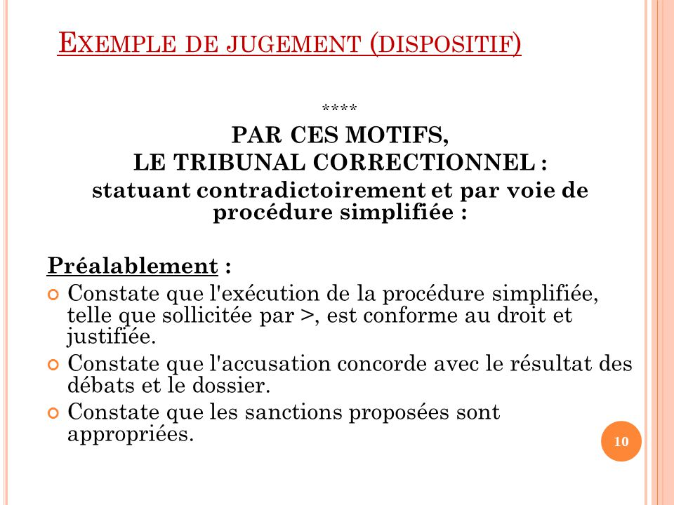 Exemple de jugement (dispositif)