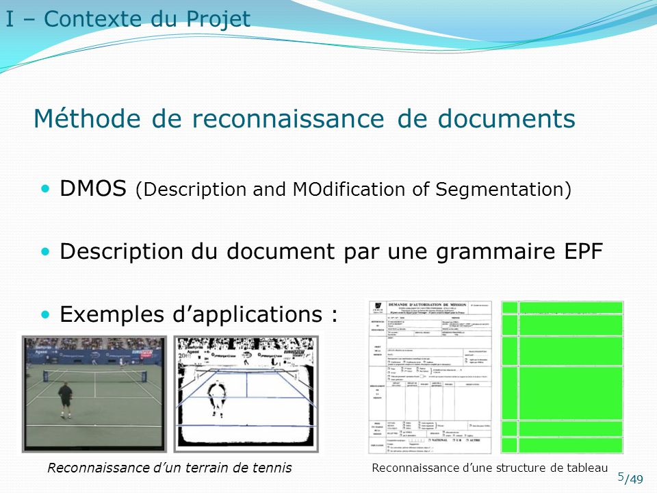 Méthode de reconnaissance de documents