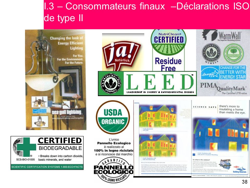 I.3 – Consommateurs finaux –Déclarations ISO de type II