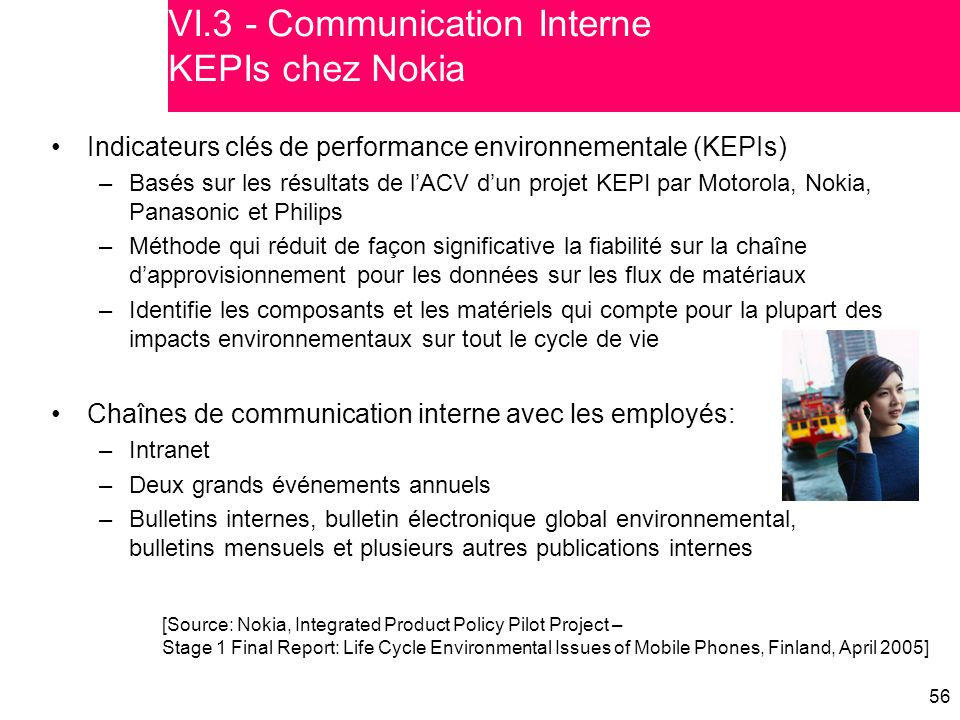 VI.3 - Communication Interne KEPIs chez Nokia