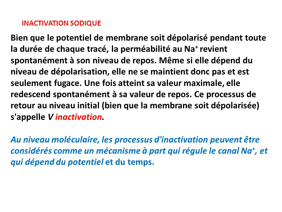 INACTIVATION SODIQUE