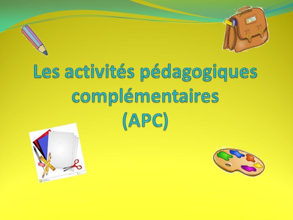 Les activités pédagogiques complémentaires (APC)