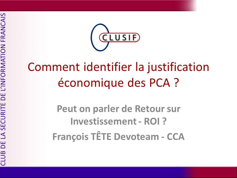 Comment identifier la justification économique des PCA