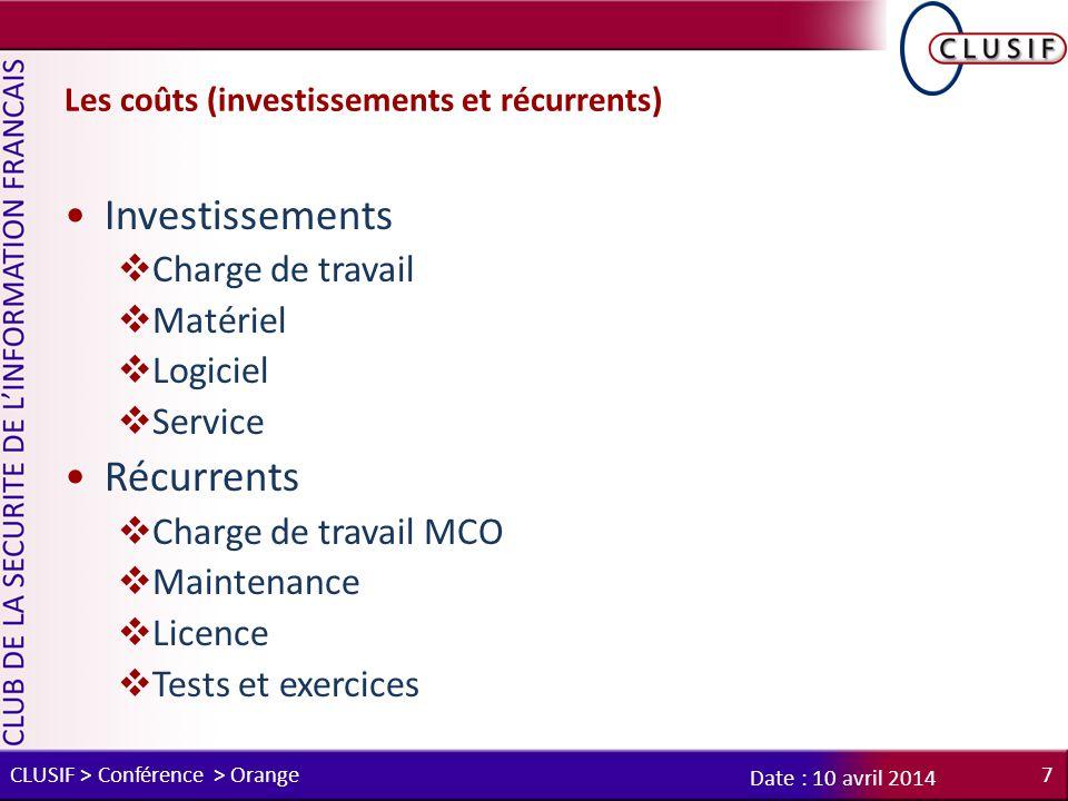 Les coûts (investissements et récurrents)