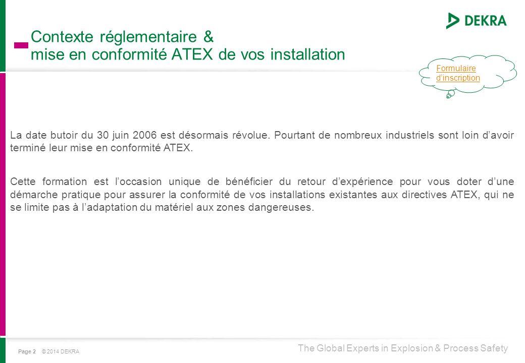 Contexte réglementaire & mise en conformité ATEX de vos installation