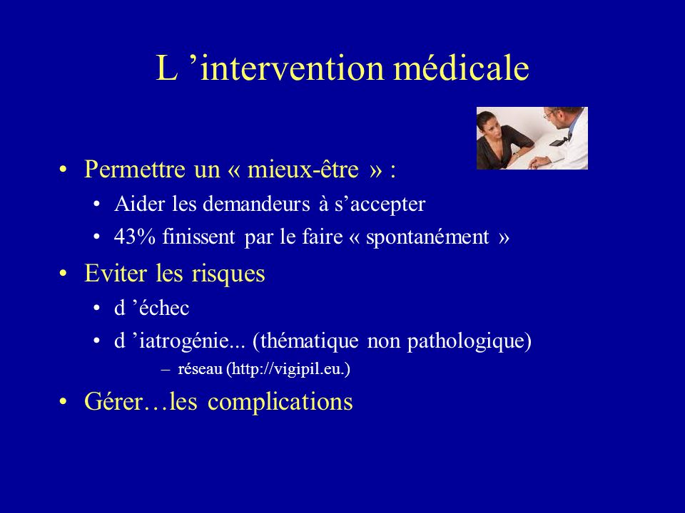 L 'intervention médicale