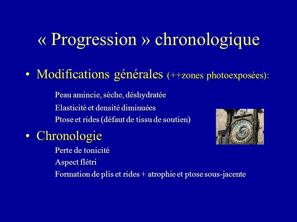 « Progression » chronologique