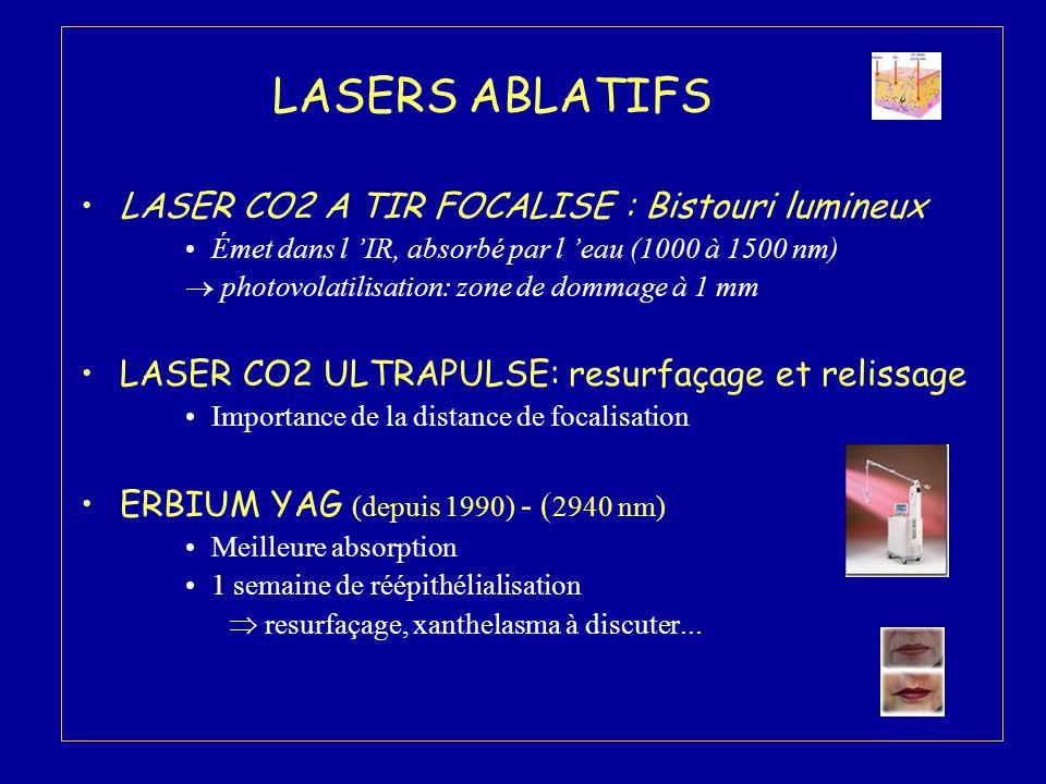 LASERS ABLATIFS LASER CO2 A TIR FOCALISE : Bistouri lumineux