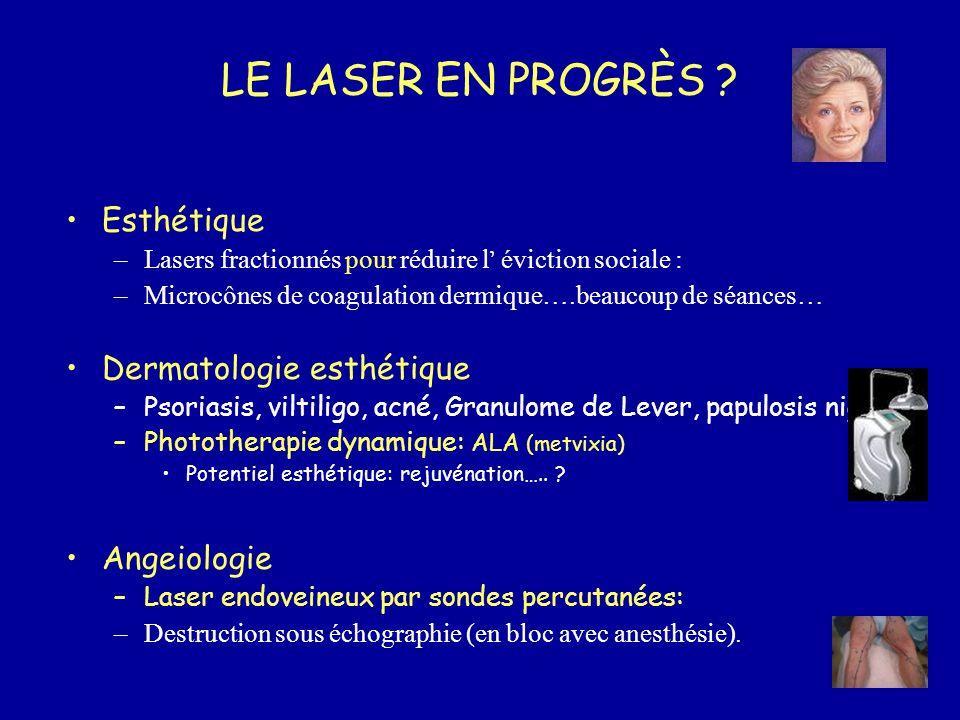 LE LASER EN PROGRÈS Esthétique Dermatologie esthétique Angeiologie