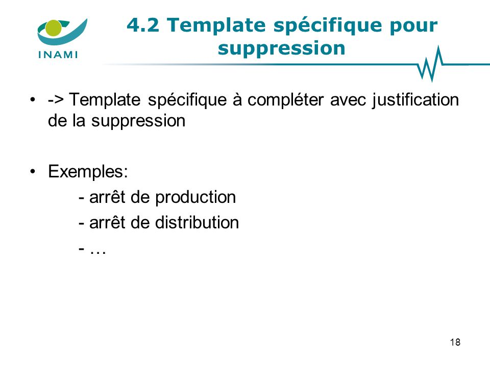4.2 Template spécifique pour suppression