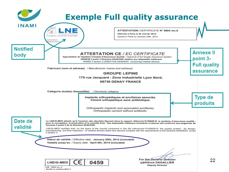 Exemple Full quality assurance