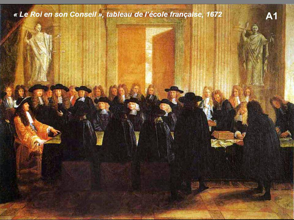 « Le Roi en son Conseil », tableau de l'école française, 1672