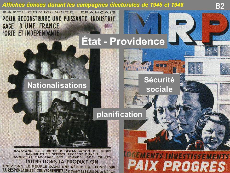 État - Providence B2 Sécurité sociale Nationalisations planification