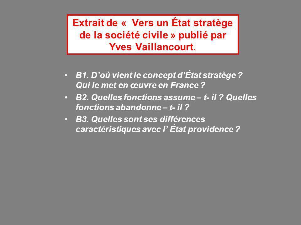 Extrait de « Vers un État stratège de la société civile » publié par Yves Vaillancourt.