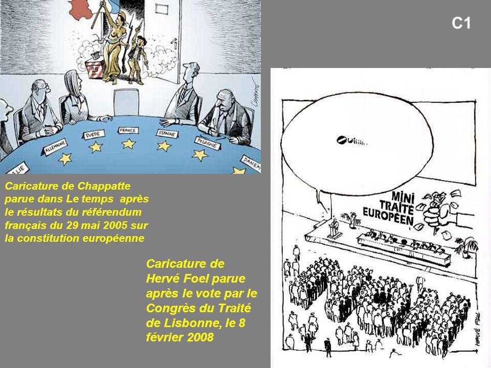 C1 Caricature de Chappatte parue dans Le temps après le résultats du référendum français du 29 mai 2005 sur la constitution européenne.