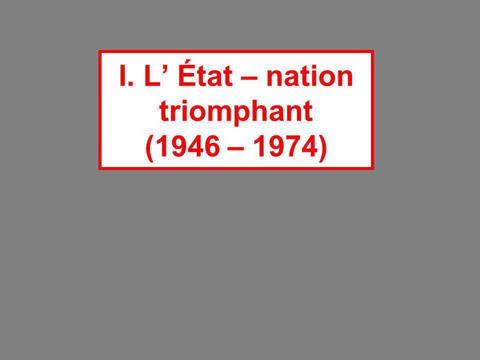 I. L' État – nation triomphant (1946 – 1974)
