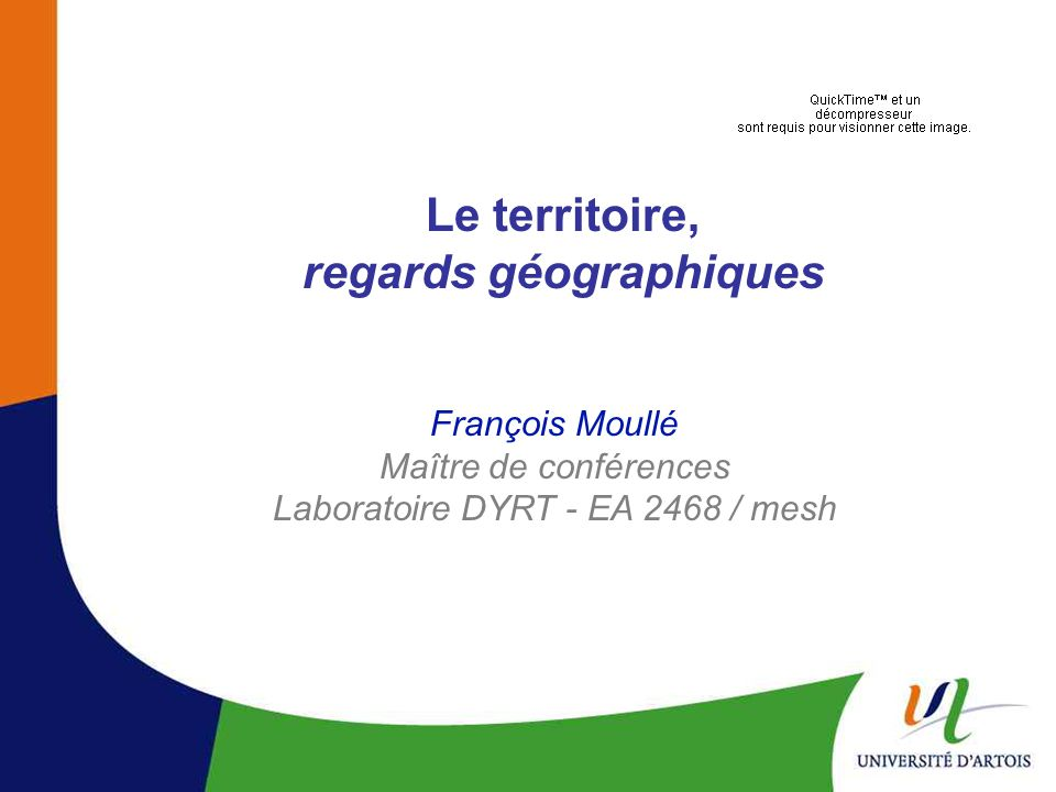 Le territoire, regards géographiques