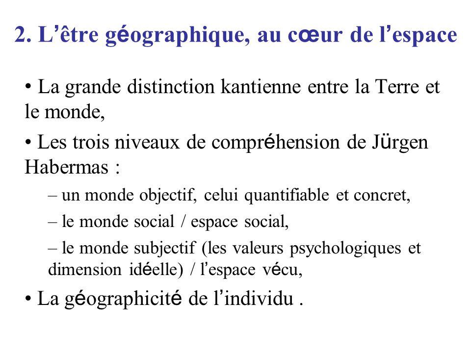 2. L'être géographique, au cœur de l'espace