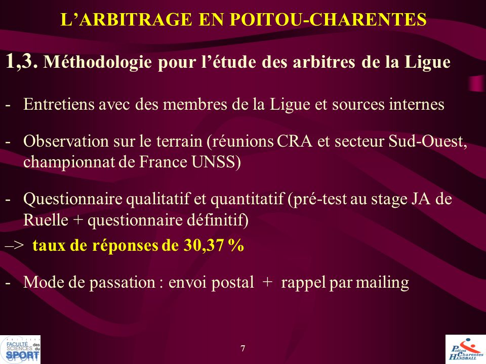 L'ARBITRAGE EN POITOU-CHARENTES