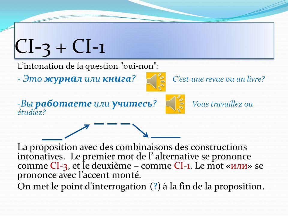CI-3 + CI-1 - Это журнал или книга C'est une revue ou un livre