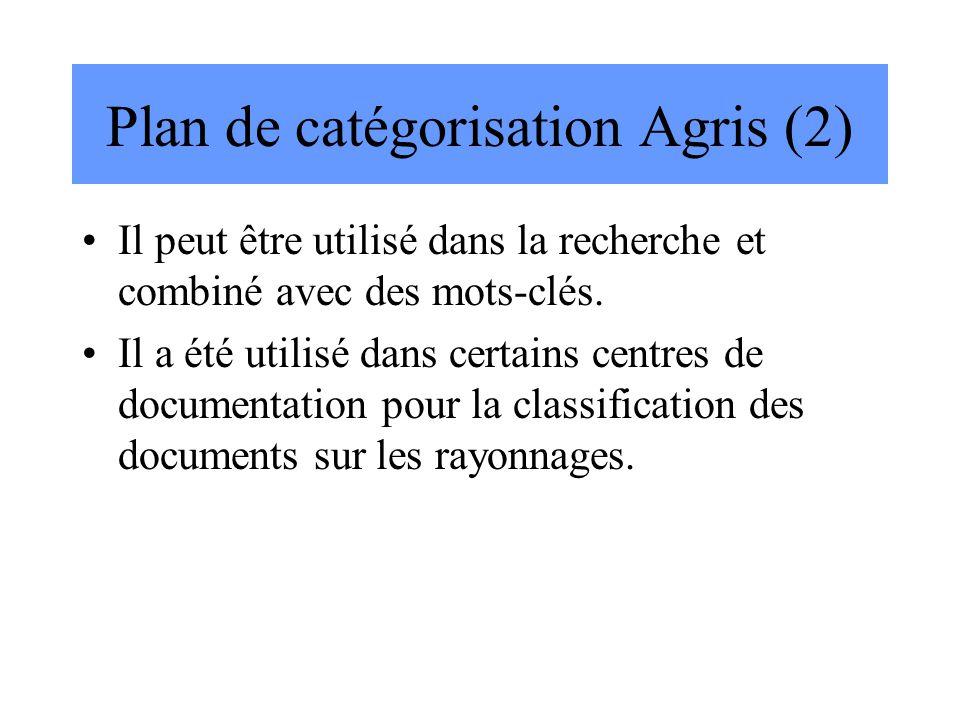 Plan de catégorisation Agris (2)
