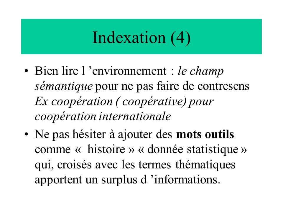 Indexation (4)