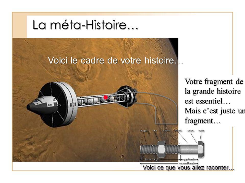 La méta-Histoire… Voici le cadre de votre histoire…