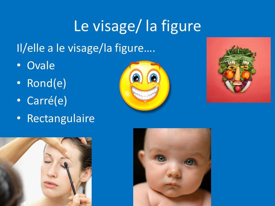 Le visage/ la figure Il/elle a le visage/la figure…. Ovale Rond(e)