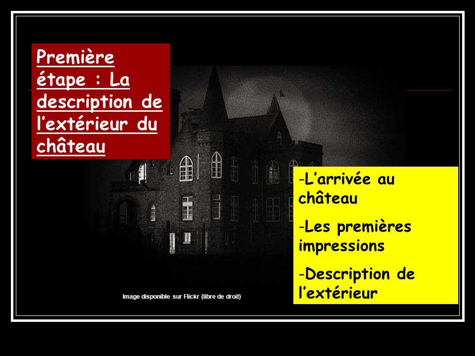 Première étape : La description de l'extérieur du château
