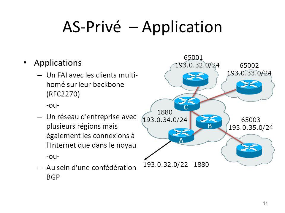 AS-Privé – Application