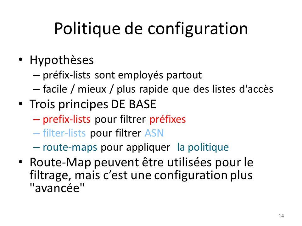 Politique de configuration