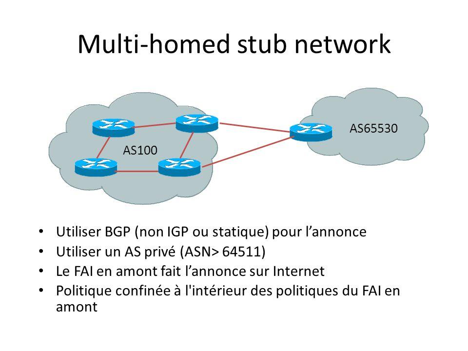 Multi-homed stub network