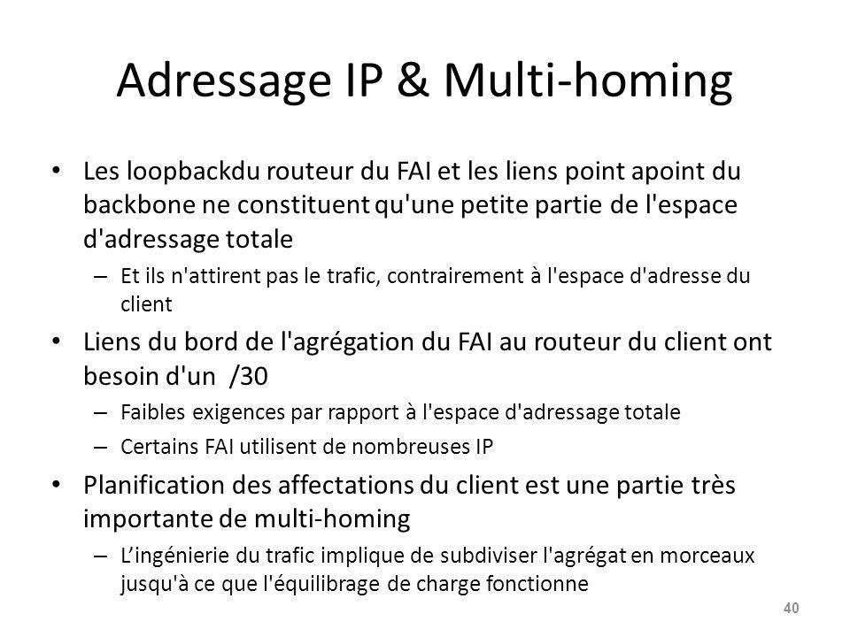 Adressage IP & Multi-homing