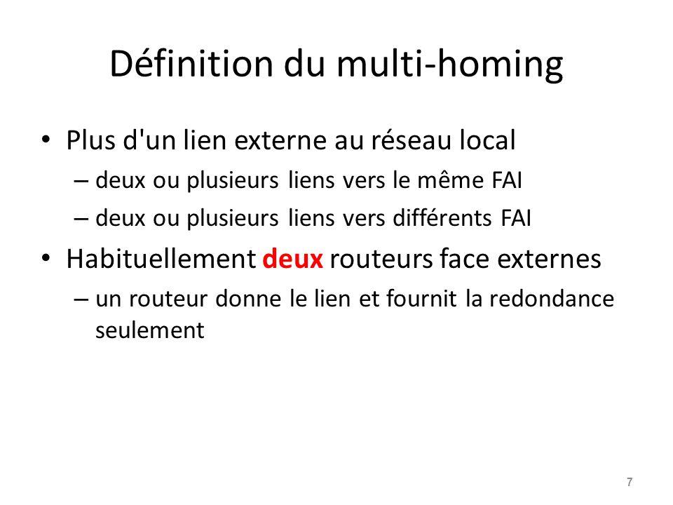 Définition du multi-homing