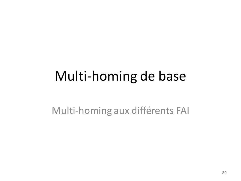 Multi-homing aux différents FAI