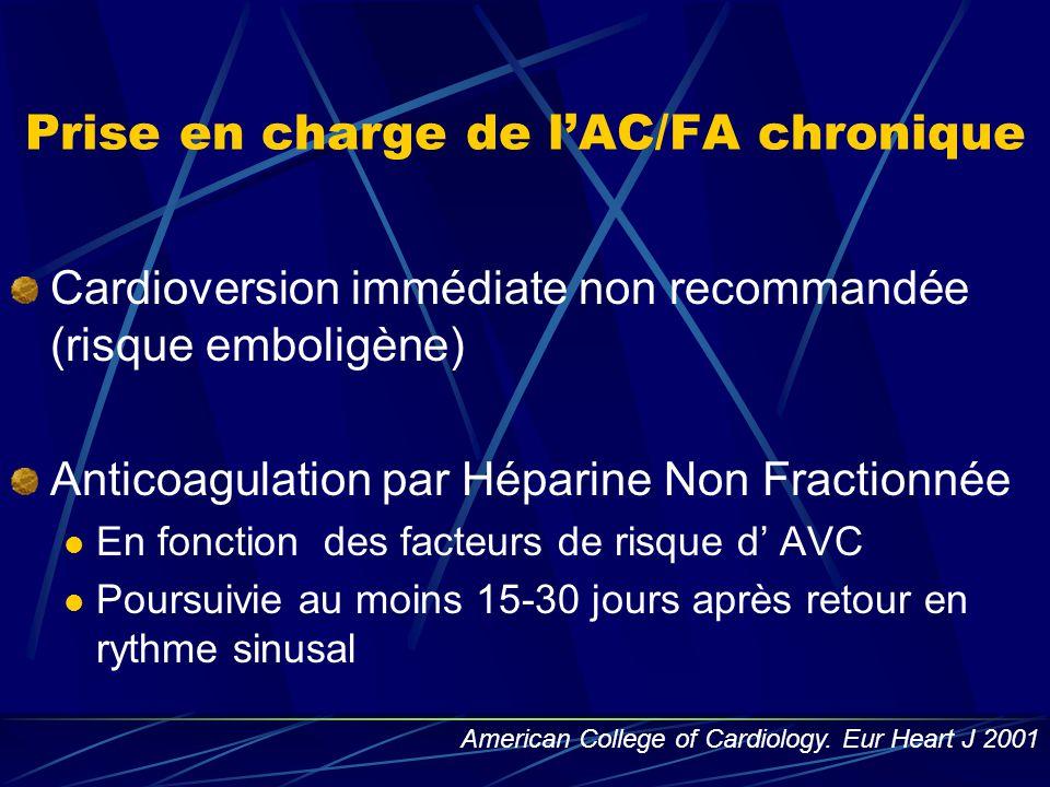 Prise en charge de l'AC/FA chronique