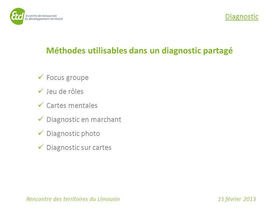 Méthodes utilisables dans un diagnostic partagé