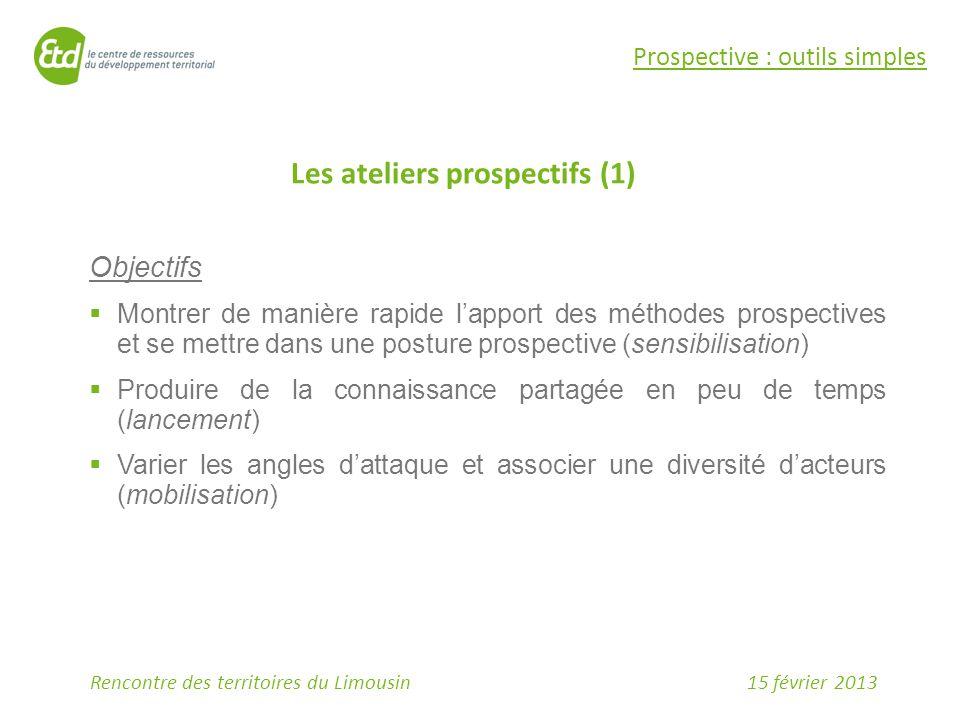 Les ateliers prospectifs (1)