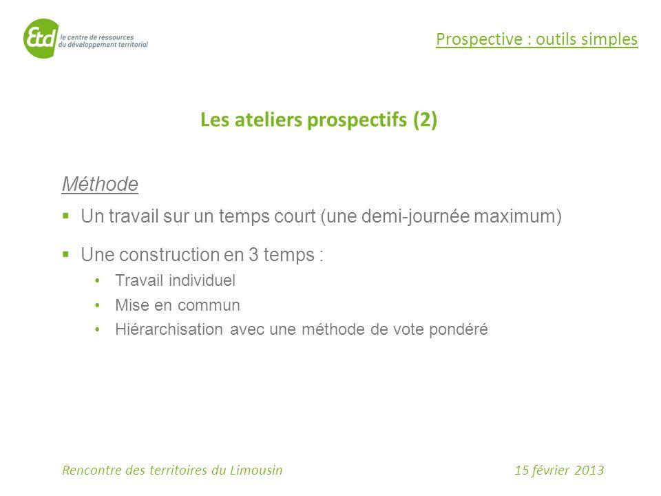 Les ateliers prospectifs (2)
