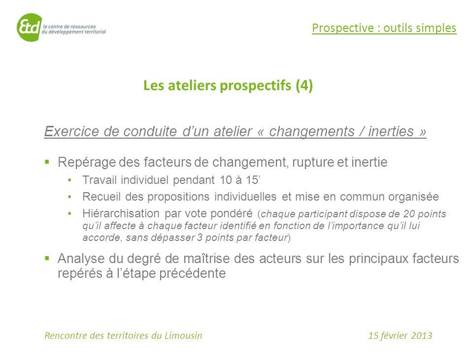 Les ateliers prospectifs (4)