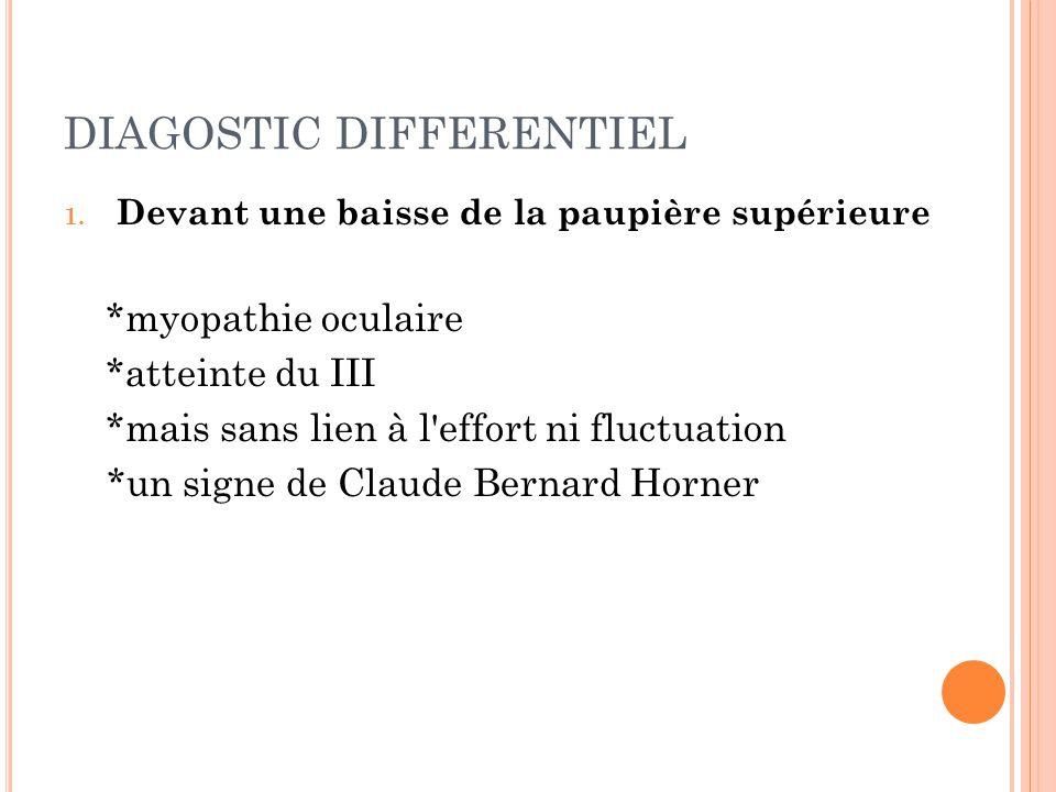 DIAGOSTIC DIFFERENTIEL