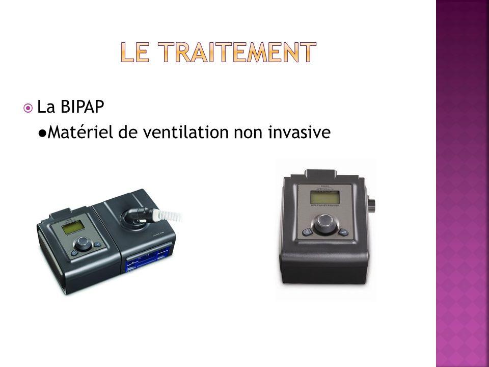 Le traitement La BIPAP ●Matériel de ventilation non invasive
