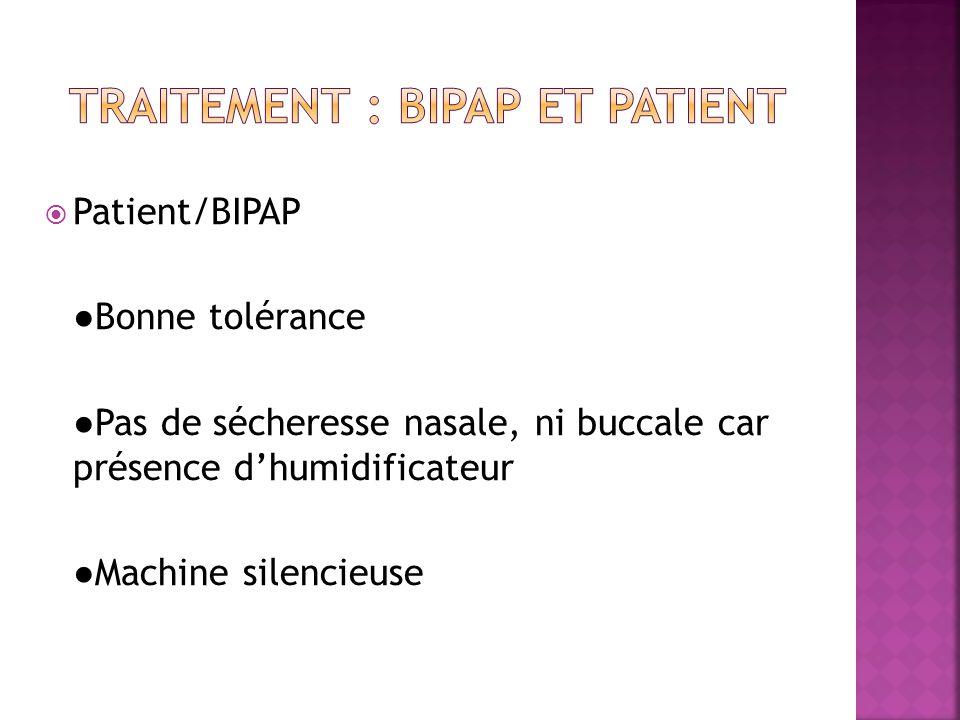 Traitement : bipap et patient