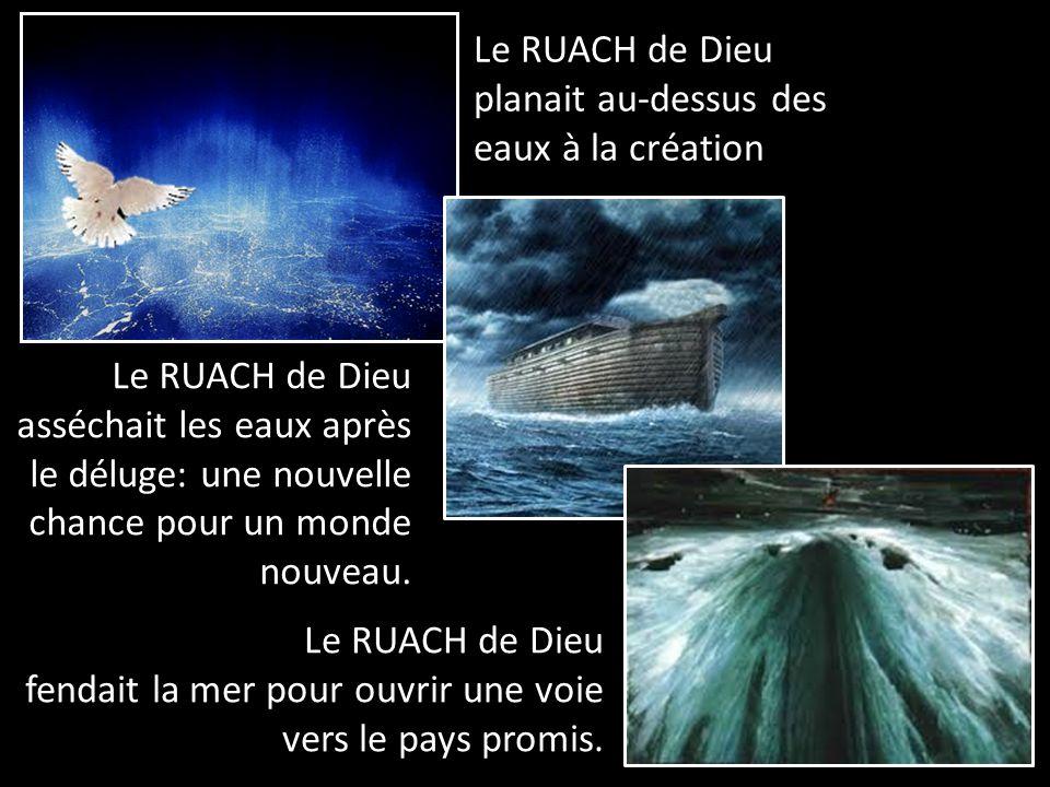 Le RUACH de Dieu planait au-dessus des eaux à la création