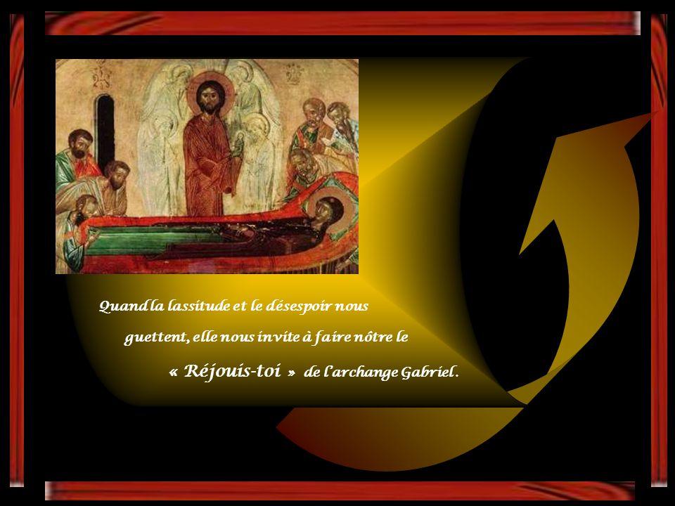 « Réjouis-toi » de l'archange Gabriel .
