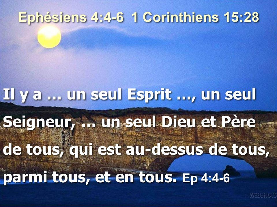 Ephésiens 4:4-6 1 Corinthiens 15:28